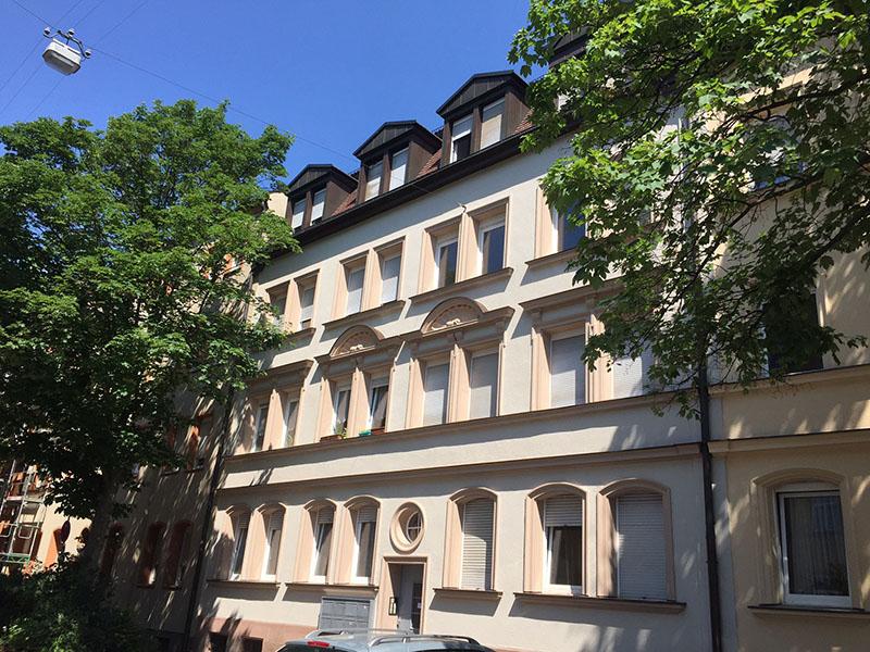 Wohnungsgenossenschaft Sigmund Schuckert Fassadenrenovierung Galvanistrasse in Nürnberg